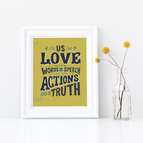 1 John 3:18 Love with Actions and in Truth