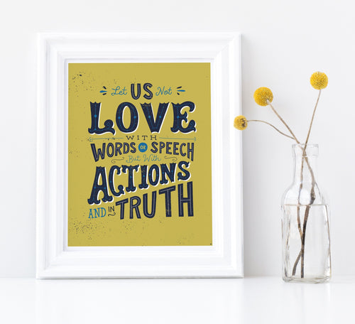 John 3:18 Let Us Love with Actions and in Truth