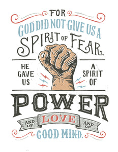 2 Timothy 1:7 Spirit of Power