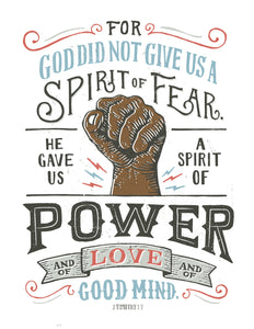2 Timothy 1:7 Spirit of Power Dark Hand