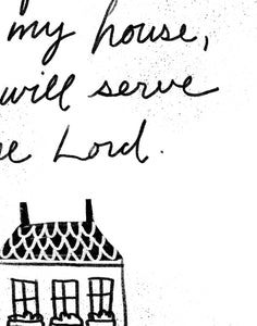 Joshua 24:15 As for Me and My House We Will Serve the Lord