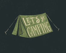 Load image into Gallery viewer, Let's Go Camping Card