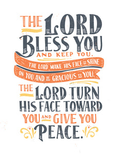 Numbers 6:24-26 Lord Bless You and Keep You