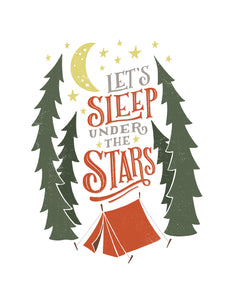 Let's Sleep Under the Stars Card