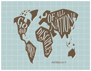 Matthew 28:19 Go Make Disciples
