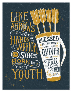 Psalm 127:4 Arrows in the Hands of Warriors