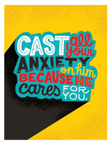 1 Peter 5:7 Cast All Your Anxiety on Him