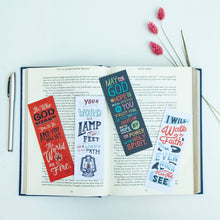 Load image into Gallery viewer, Bible Verse Bookmarks Set of Four