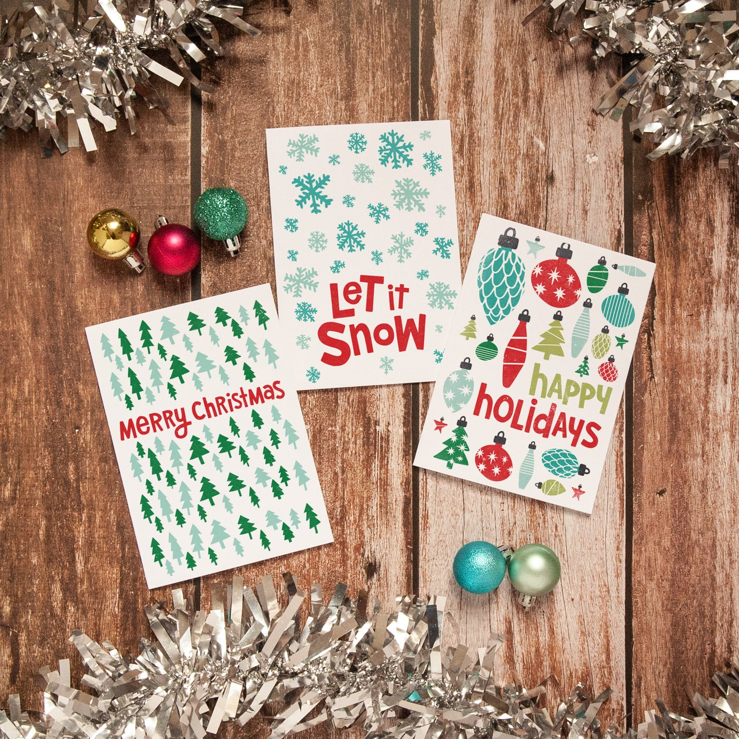 Happy Holidays Christmas Card Packs