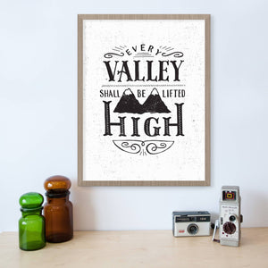 Isaiah 40:4 Every Valley Shall Be Lifted High