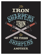 Load image into Gallery viewer, Proverbs 27:17 Iron Sharpens Iron