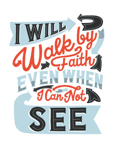 2 Corinthians 5:7 I Will Walk by Faith Card