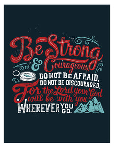Joshua 1:9 Be Strong and Courageous Card