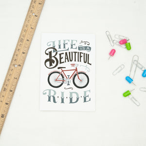 Life is A Beautiful Ride Bicycle Card