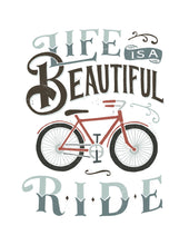 Load image into Gallery viewer, Life is A Beautiful Ride Bicycle Card
