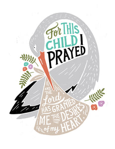 1 Samuel 1:27 For This Child We Have Prayed Card