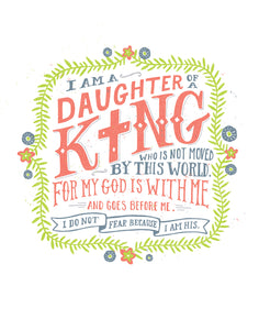 I Am a Daughter of King Card