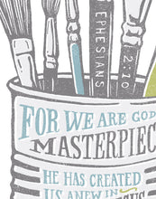 Load image into Gallery viewer, Ephesians 2:10 You Are a Masterpiece Card