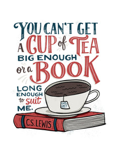 You Can't Get a Book Big Enough, CS Lewis Card