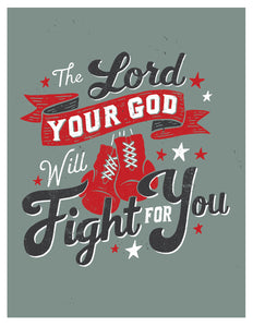 Deuteronomy 3 God Will Fight For You Card