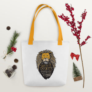 Aslan Sound of His Roar Tote Bag