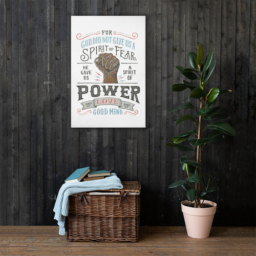 Spirit of Power Dark Hand Canvas