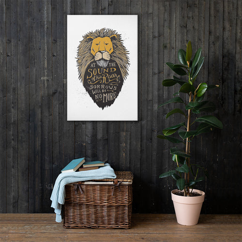 Sound of His Roar Canvas