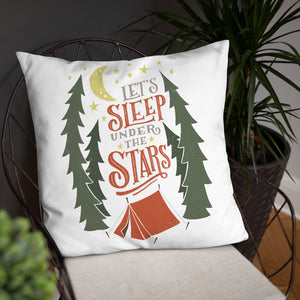 Let's Sleep Under the Stars Pillow