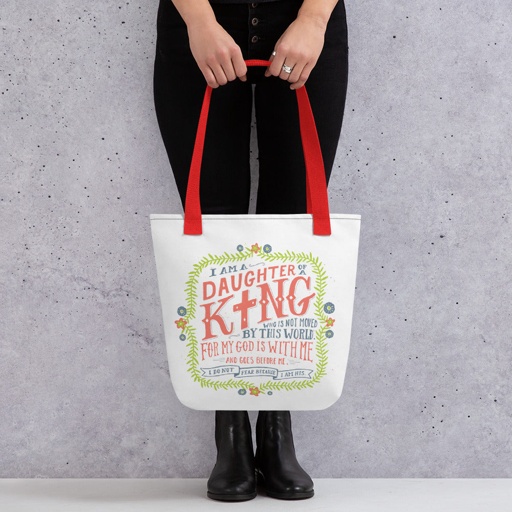 Daughter of a King Tote Bag