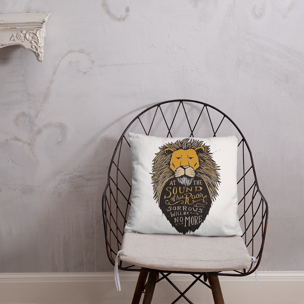 Narnia Sound of His Roar Pillow