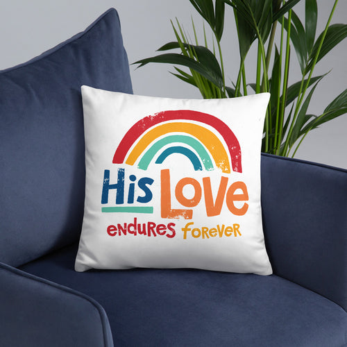 His Love Endures Forever Pillow