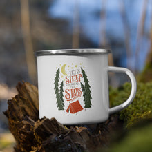 Load image into Gallery viewer, Let's Sleep Under the Stars Enamel Mug
