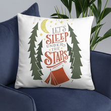 Load image into Gallery viewer, Let's Sleep Under the Stars Pillow