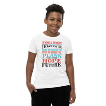 Load image into Gallery viewer, Jeremiah 29:11 Youth T-Shirt