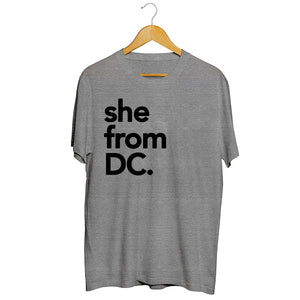 She from DC.