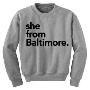 She from Baltimore