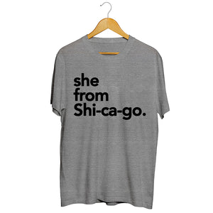 She from Shi-ca-go
