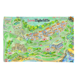 Love Highcliffe Tea Towel