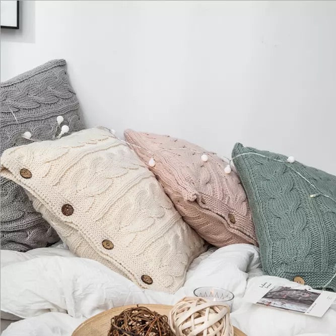 Soft Knitted Cushion Pillow 45cm