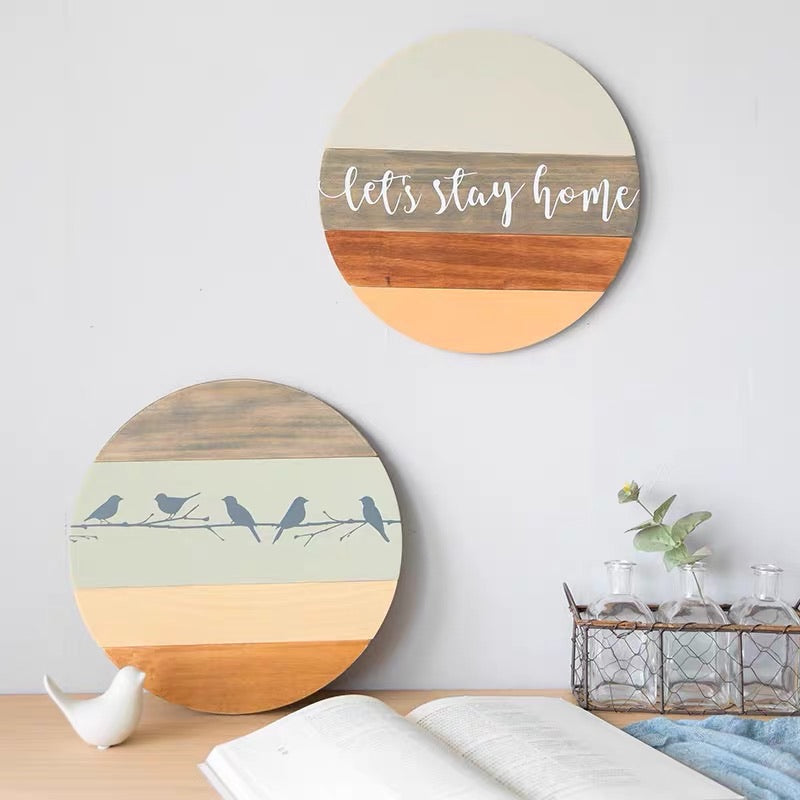 Nordic Style Wooden Wall Decor 32cm