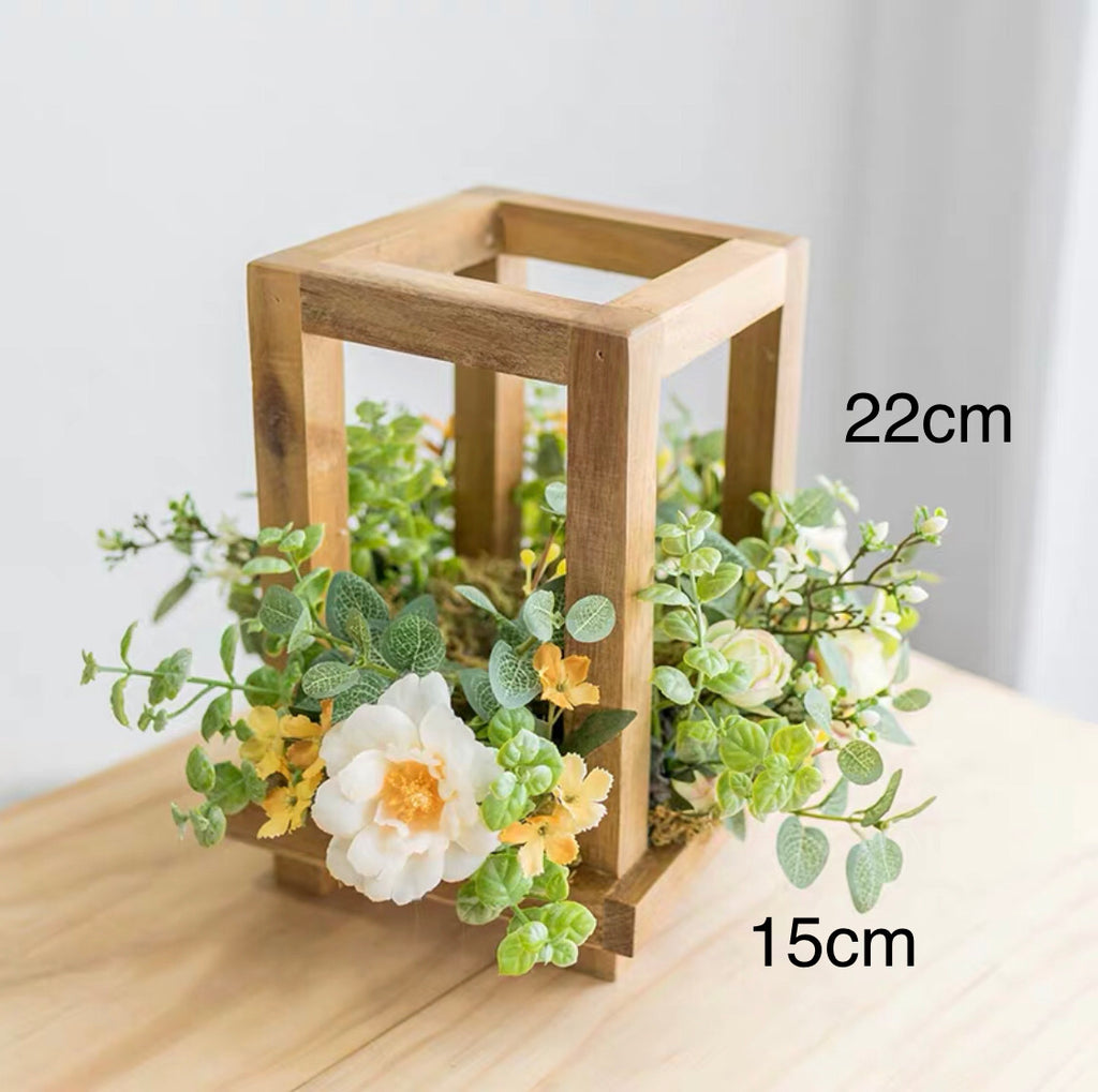 Decorative Wooden Block Candle Holder