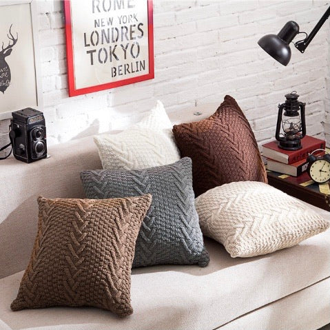Classic Grandma Knit Cushion Cover 45cm