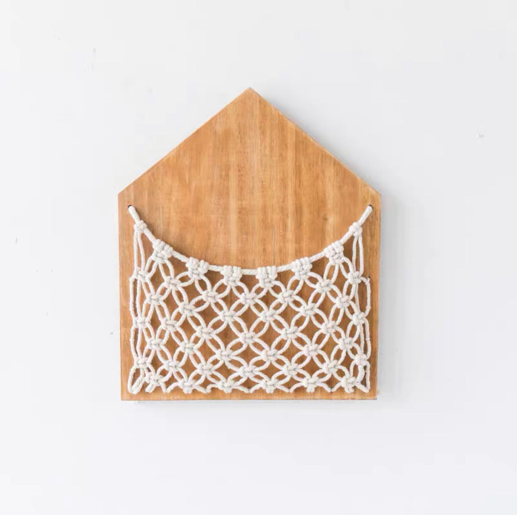 Woven Netted Wooden Letter Holder