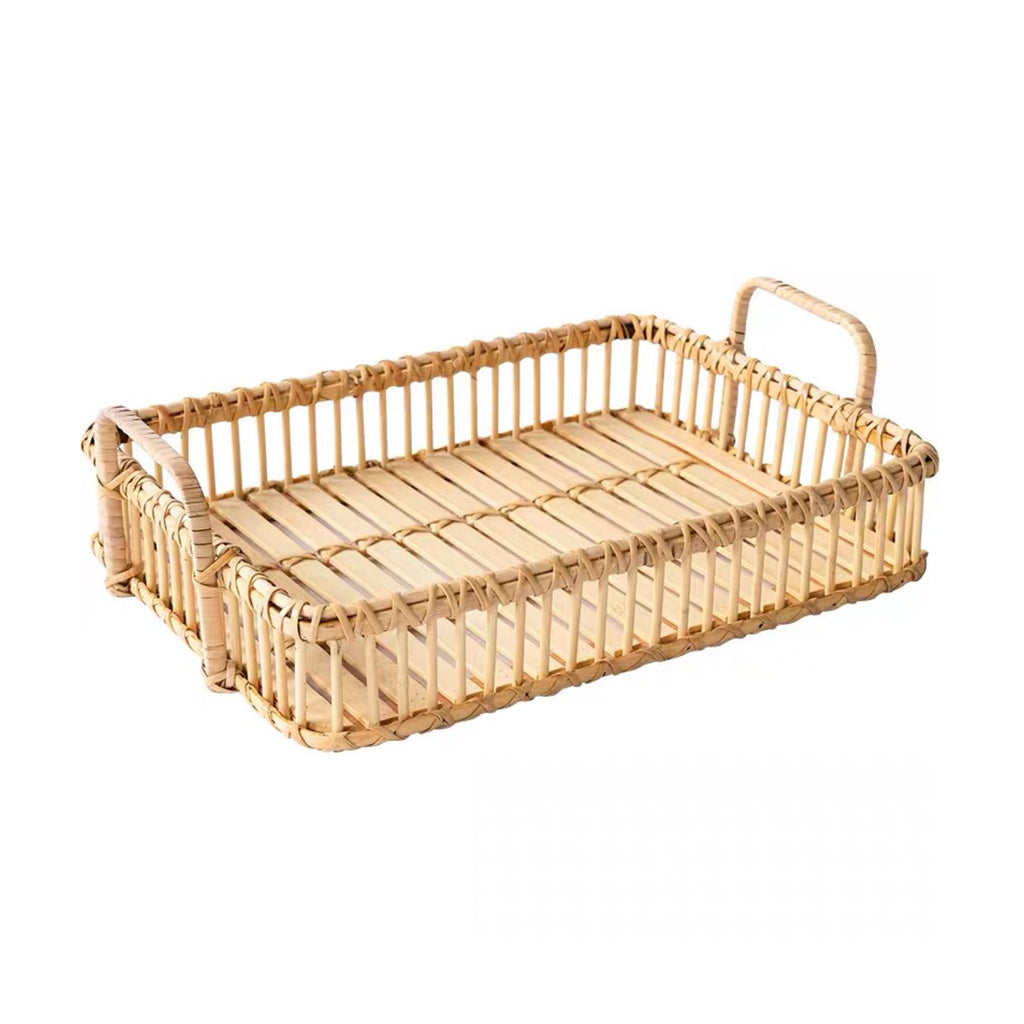 Rectangle Rattan Basket Tray 41cm