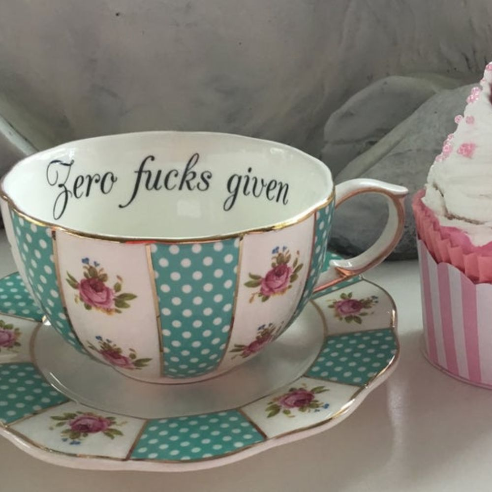 Zero F*cks Given Teacup