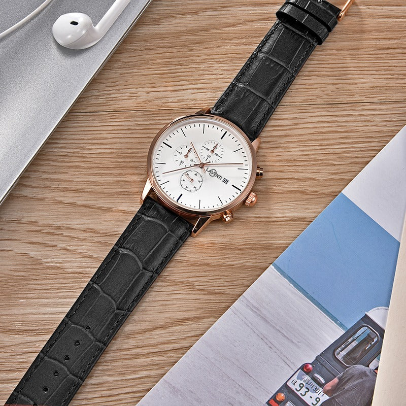 Classic Chrono Rose Gold/White