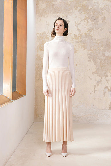 Ribbed Skirt Silk Cashmere Blend