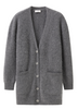 Fluffy Cashmere Medium Length Cardigan