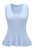 Flared Tank Top Cotton Linen Blend