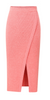 Slit skirt Cotton Linen Blend